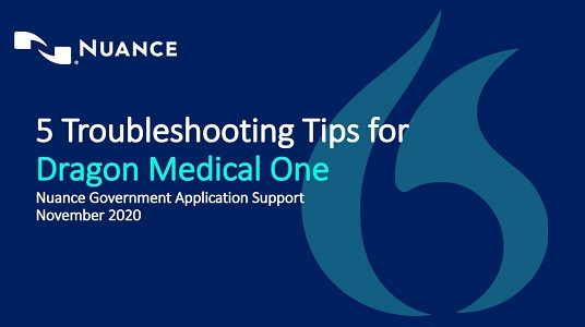 5 troubleshooting tips for Dragon Medical One webinar thumbnail