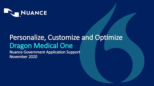 Personalize, customize and optimize Dragon Medical One webinar thumbnail