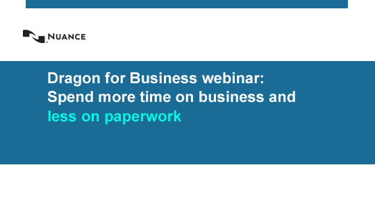 Dragon for business featured webinar