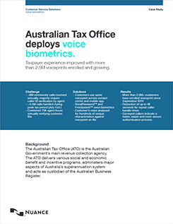 Australian Tax Office deploys voice biometrics