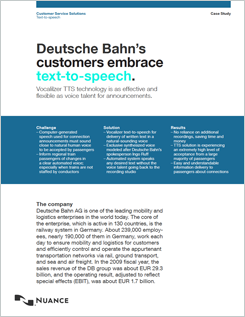 Text-to-speech Deutsche Bahn case study
