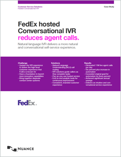 FedEx hosted conversational IVR reduces agent calls