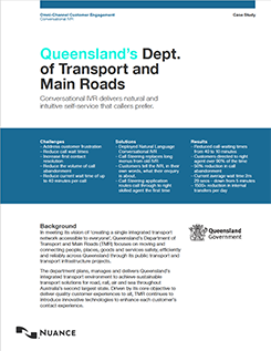 Queensland's Dept. of Transport and Main Roads