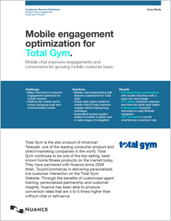 Mobile engagement optimisation for Total Gym