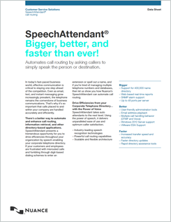 SpeechAttendant data sheet