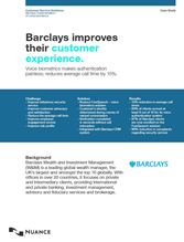 Barclays improves their customer experience