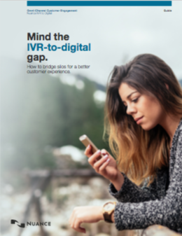 Seamlessly bridge the gap between the IVR and Digital channels