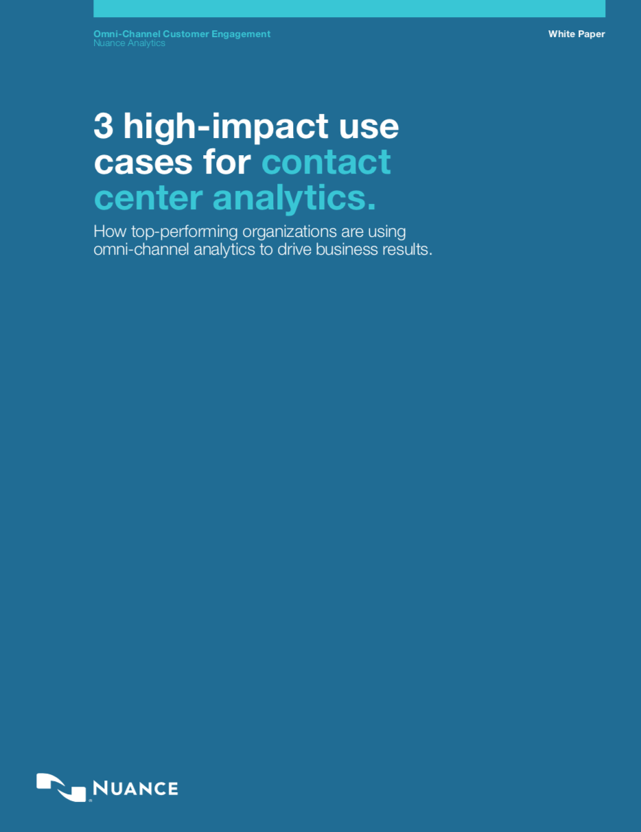 White paper sulle soluzioni di Contact center analytics omnicanale