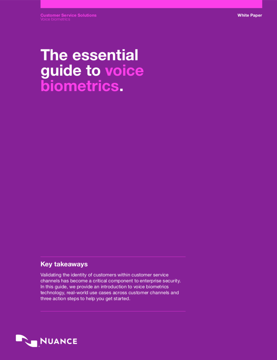 Voice and behavioural biometric white paper