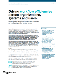 PowerScirbe Workflow Orchestration datasheet image