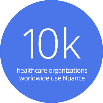 10K healthcare organizations worldwide use Nuance