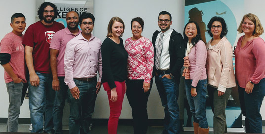 Nuance employees wear pink for breast cancer awareness