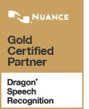 Gold Certified Partner Dragon Speech Recognition Logo