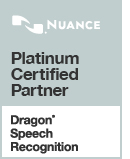 Platinum Certified Partner Dragon Speech Recognition Logo