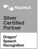 Silver Certified Partner Dragon Speech Recognition Logo