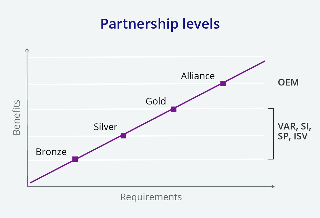 Partnership levels infographic